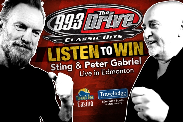 See Sting and Peter Gabriel with The Drive!