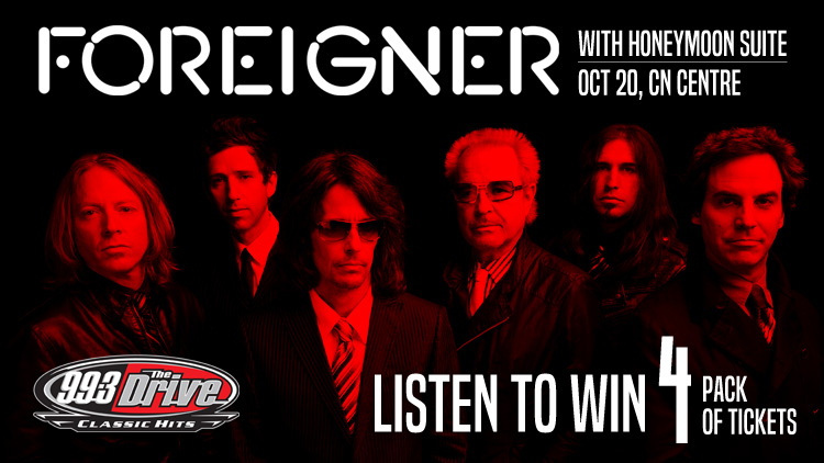99.3 The Drive's Foreigner Four Pack