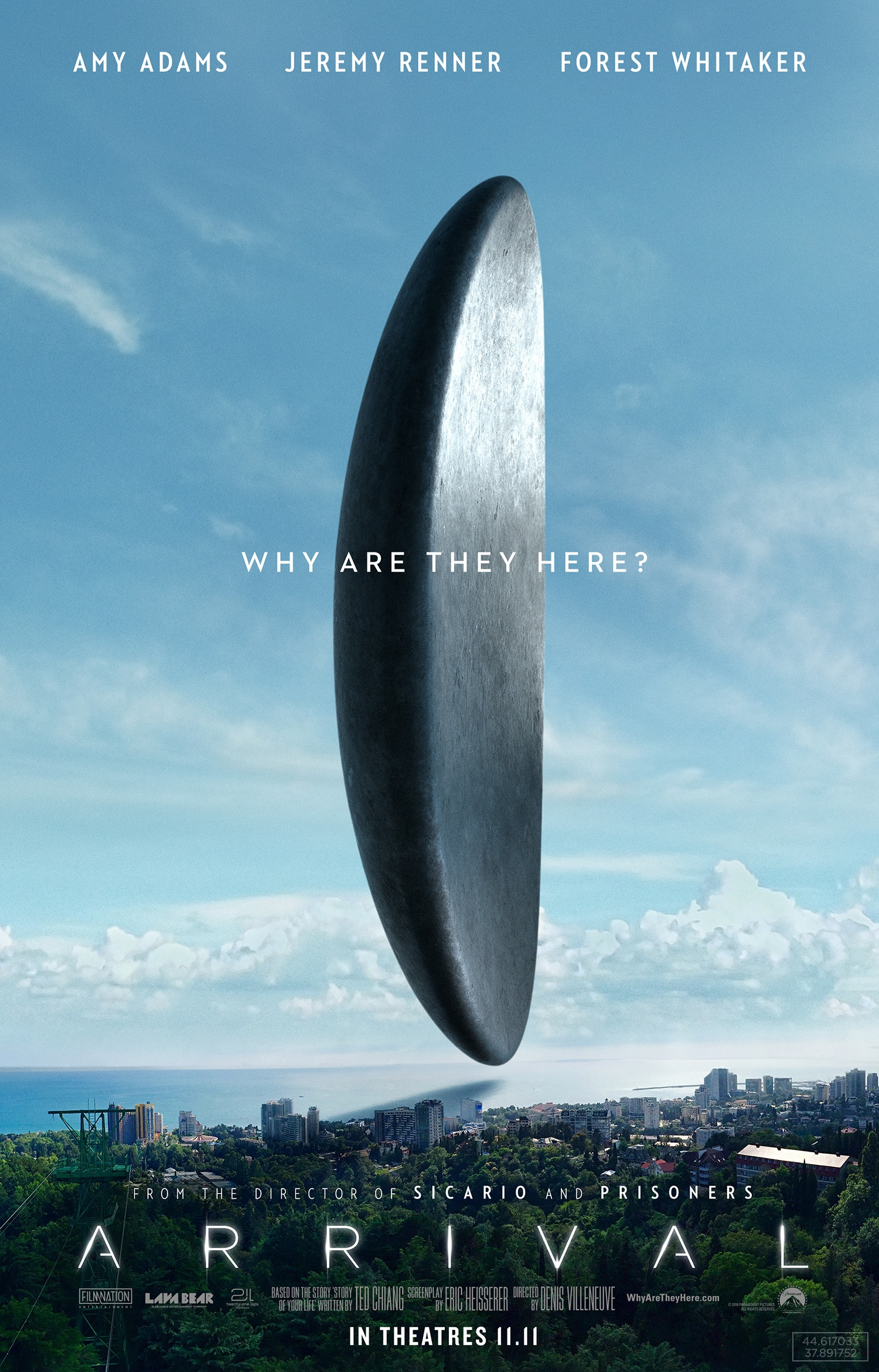 Arrival arrives in theatres tomorrow!