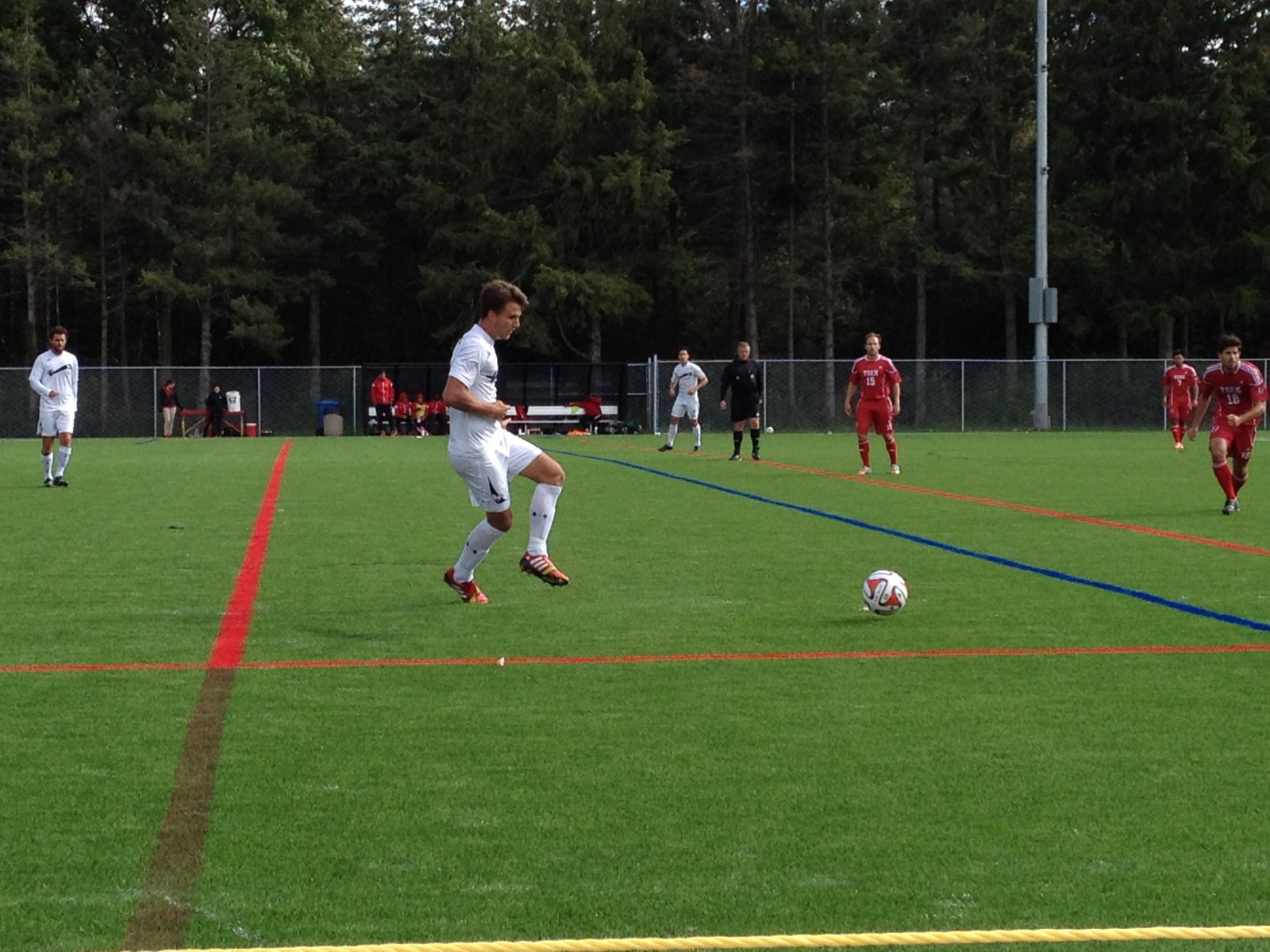 Western Mustangs soccer squads fall to York