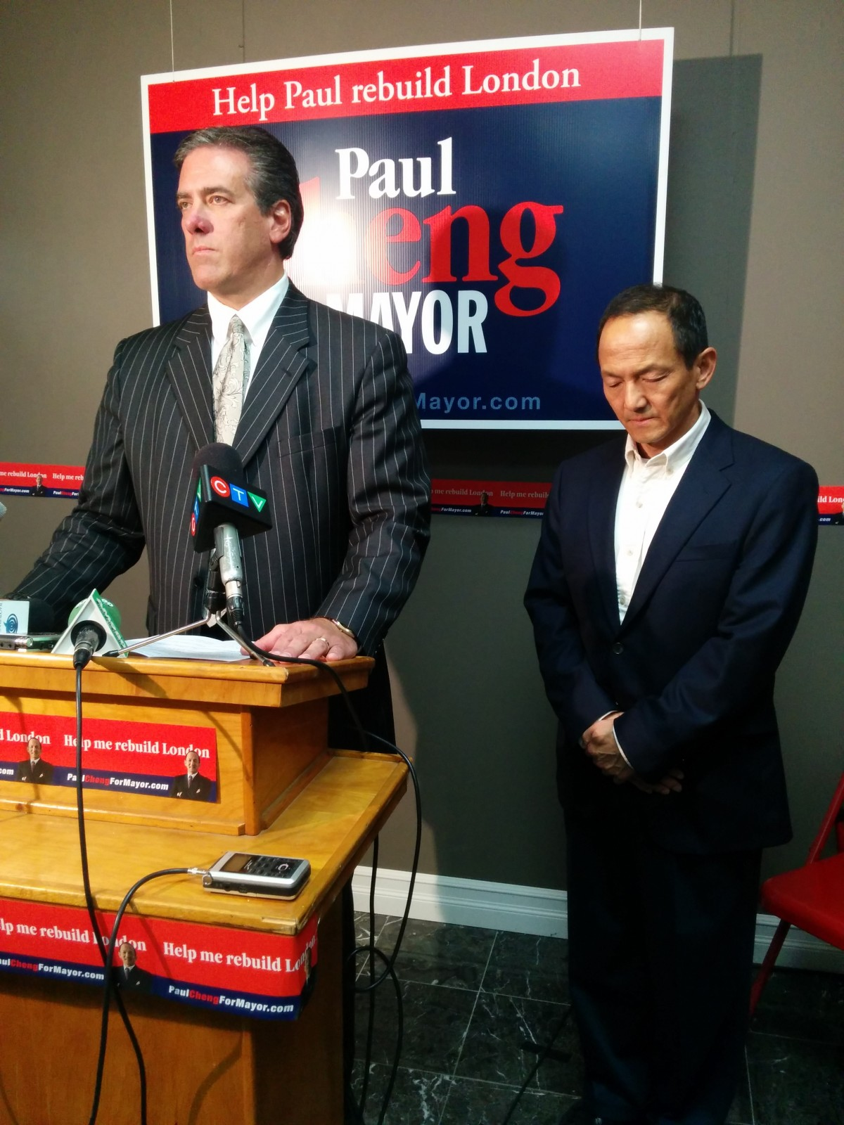 Caranci shuts down campaign, throws support behind Cheng