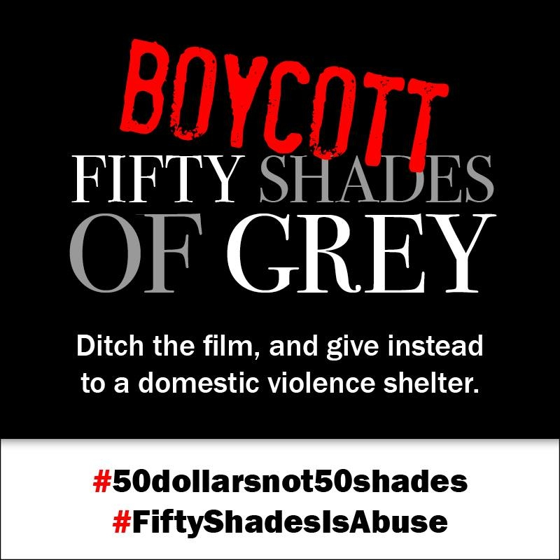 #50DollarsNot50Shades Protest Continues