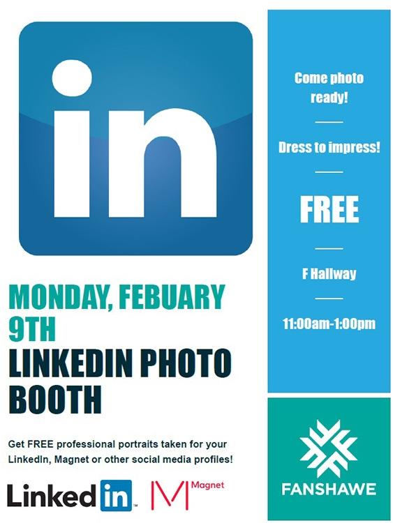 LinkedIn Booth kicks off Career Week at Fanshawe