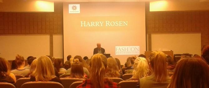 Harry Rosen visits Fanshawe College