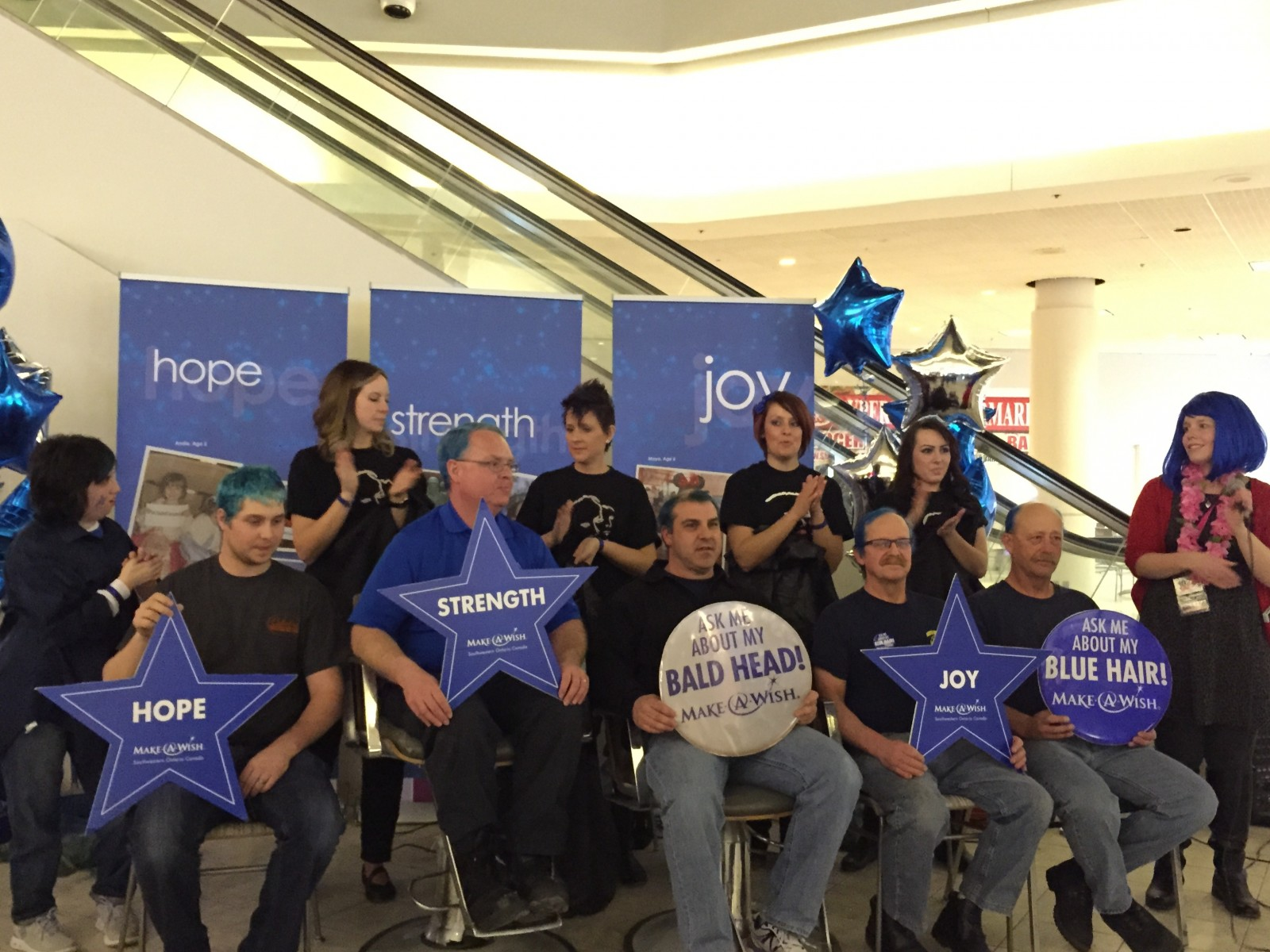 Londoners 'Go Blue, Go Bald' for Make-A-Wish