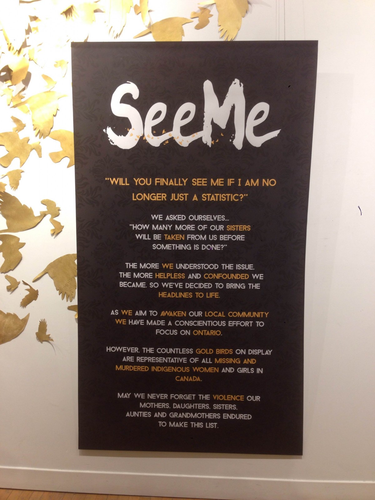 The Arts Project: 'See Me' and 'Callow' installations
