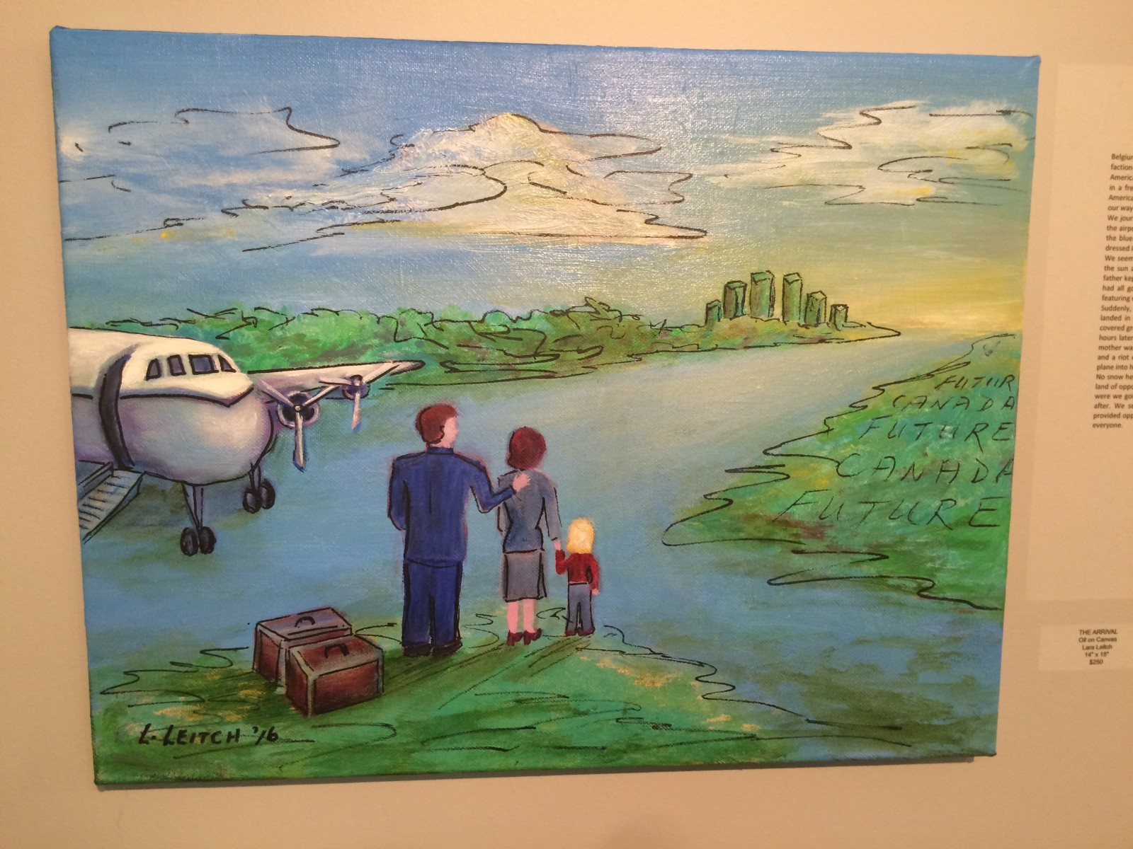 Immigrants tell their story at the Home and Away art exhibit
