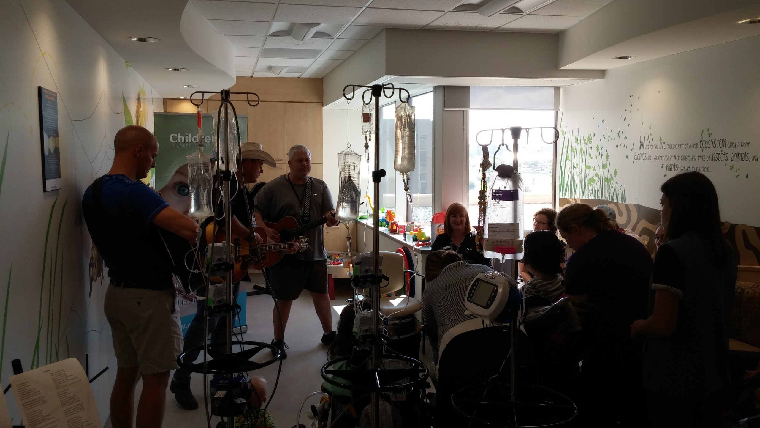 Bamford and his crew perform in front of a larger audience as more patients heard the music through the halls.