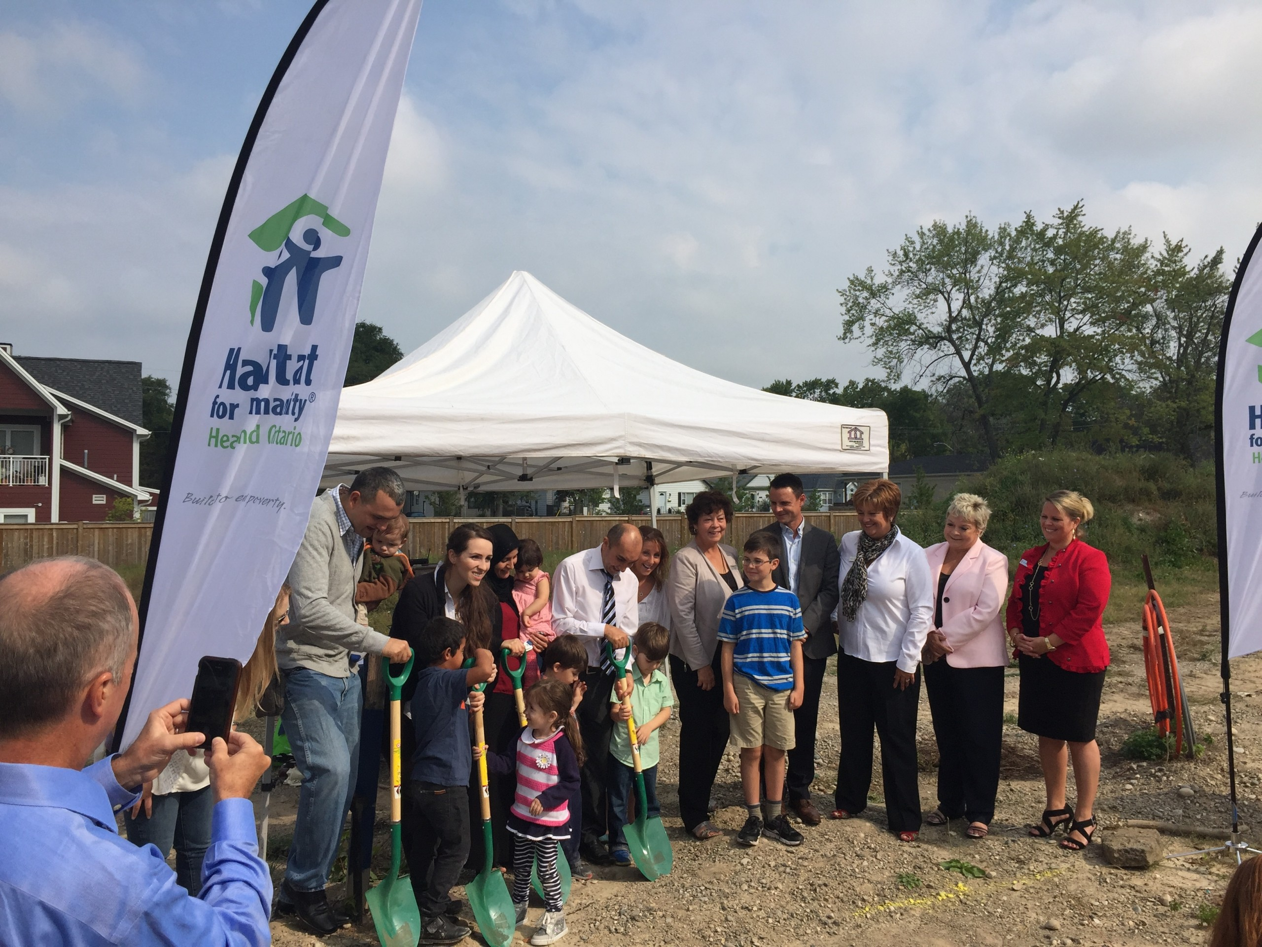 Habitat For Humanity ground breaking event