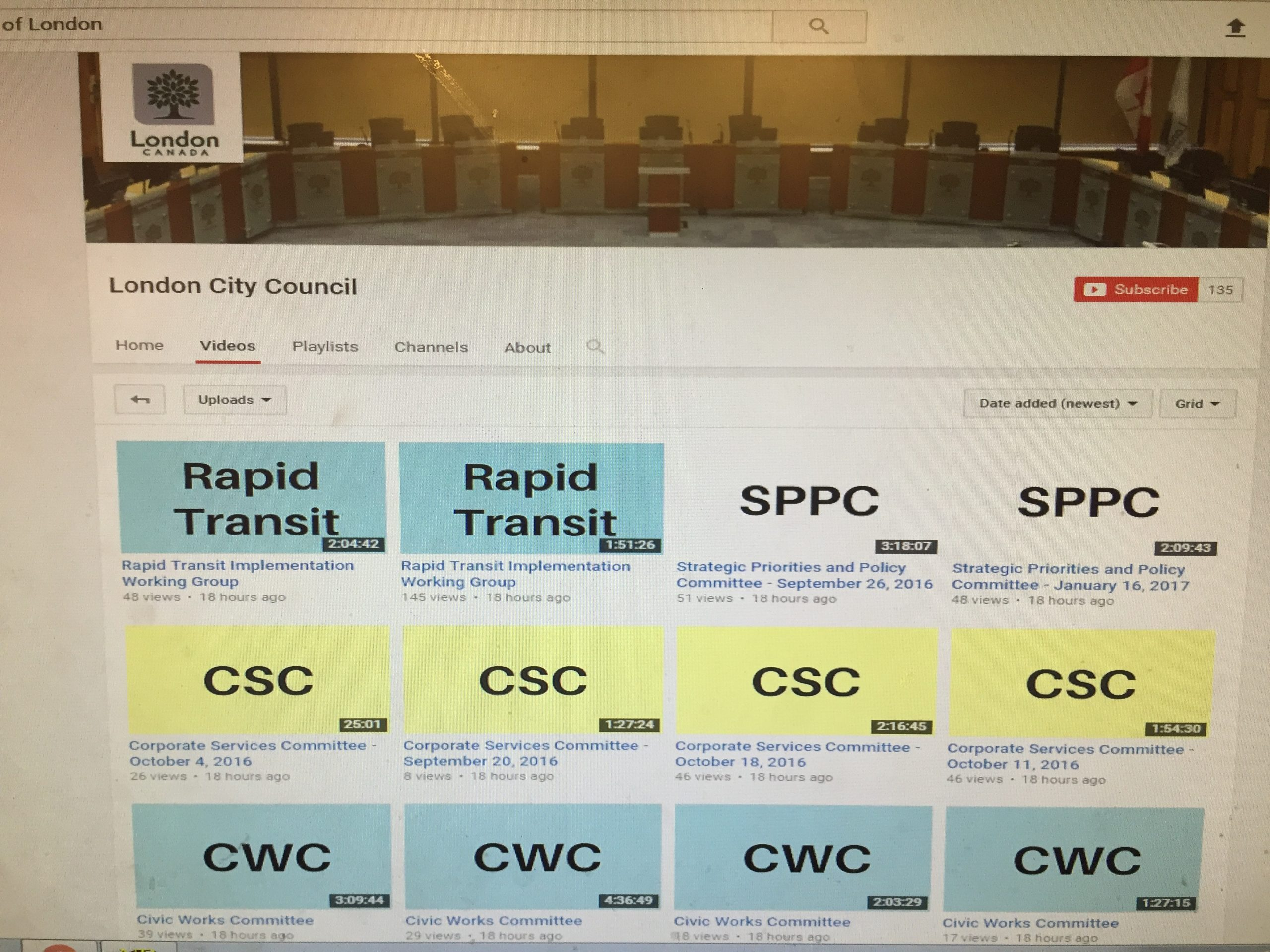 Council videos back online
