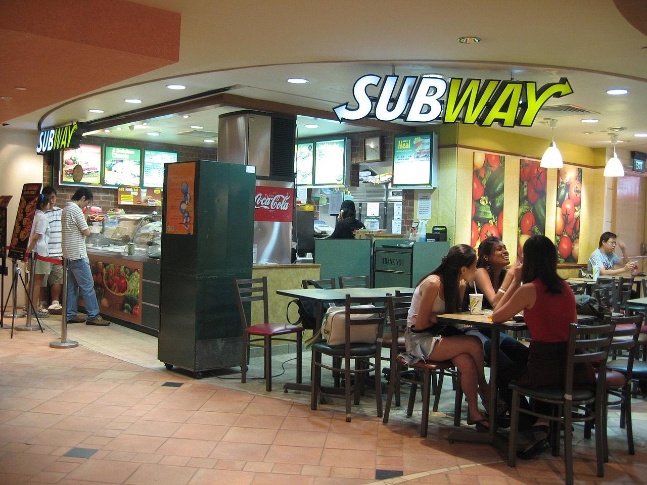Subway chicken: eat 50% fresh