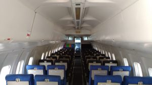 A shot of the aircraft's interior