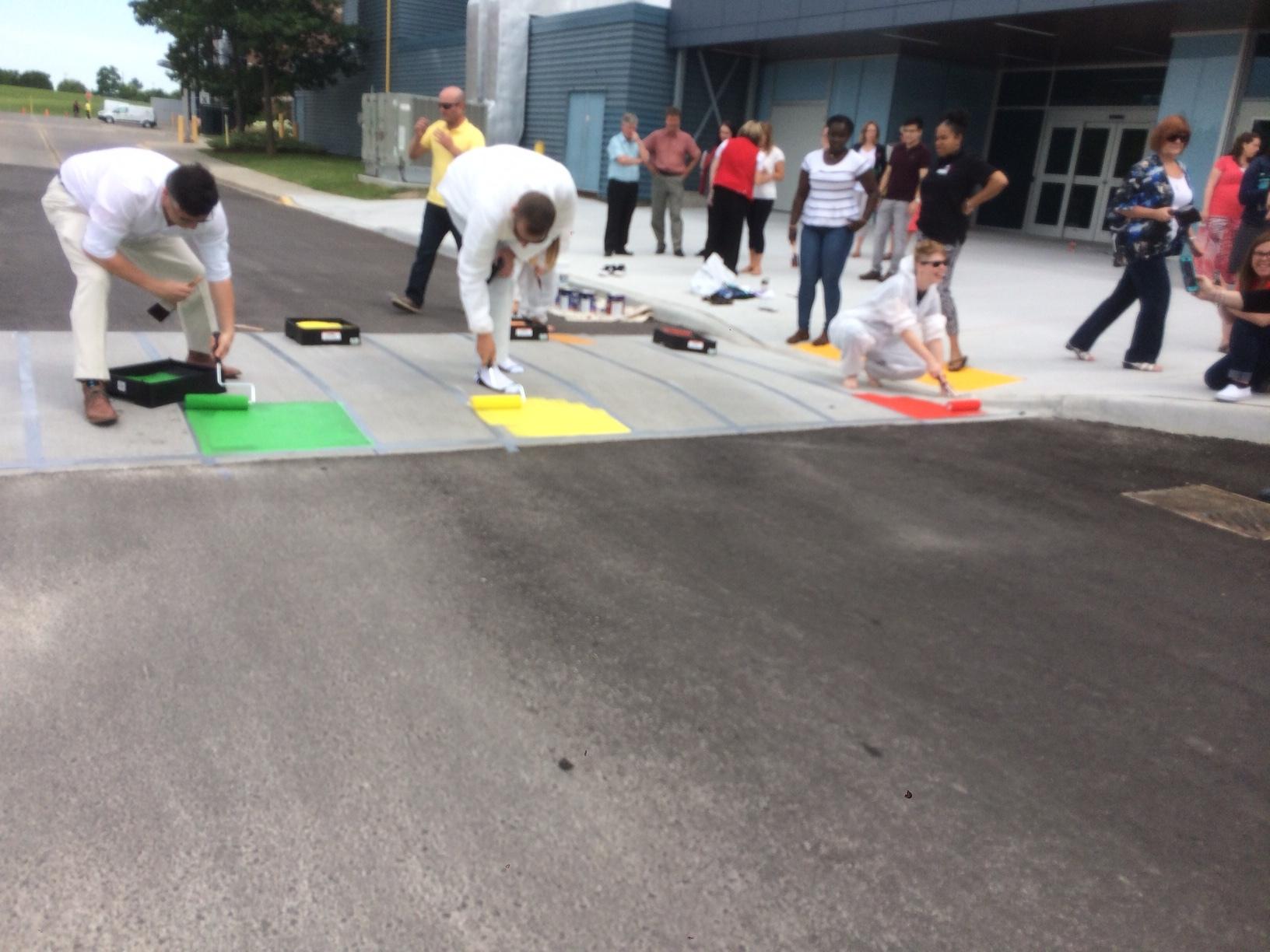 Fanshawe's pride crosswalk