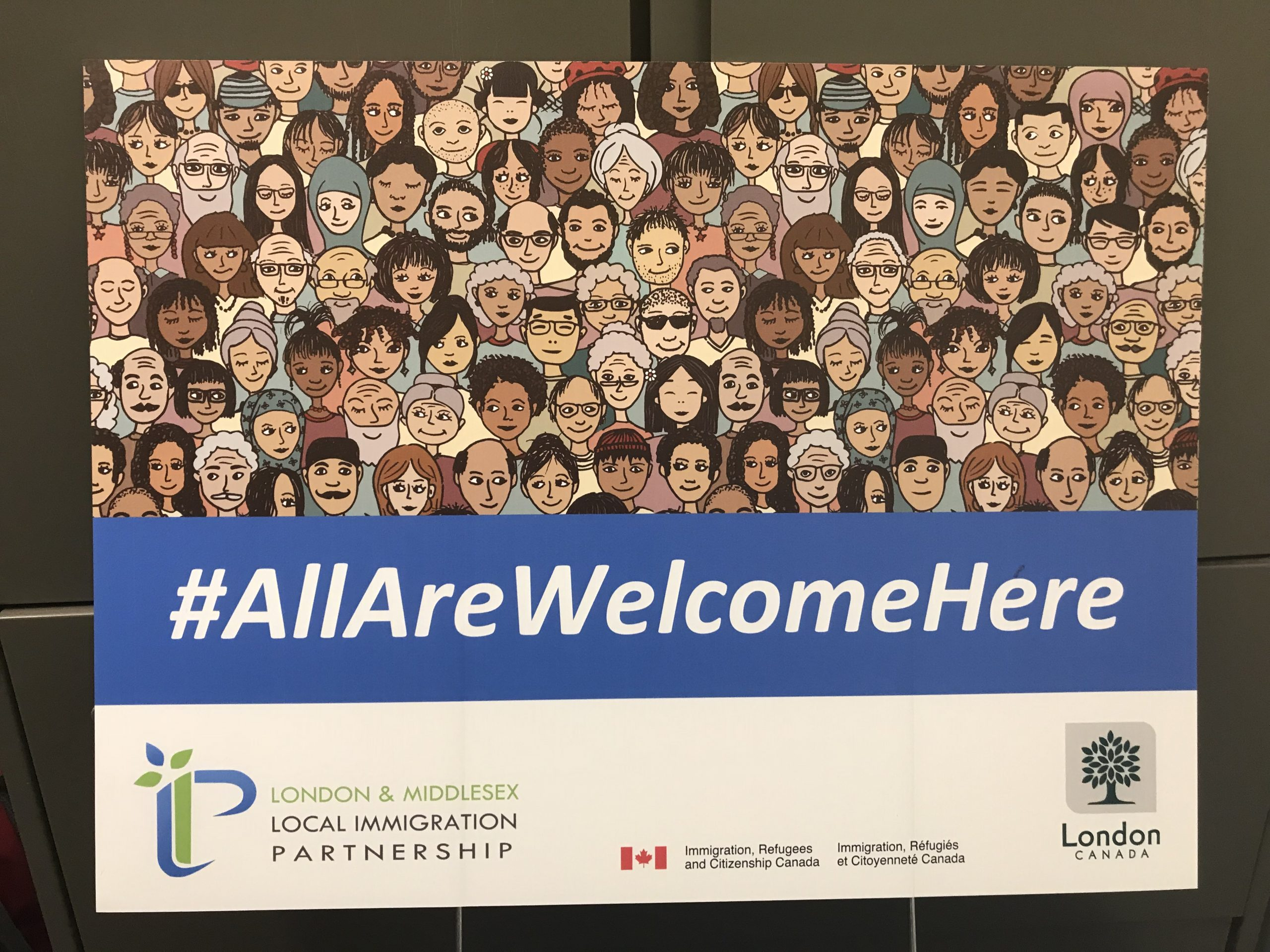"""""""All are welcome here""""- a local campaign against bigotry"""