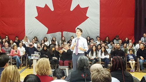 Prime Minister deals with hecklers at town hall