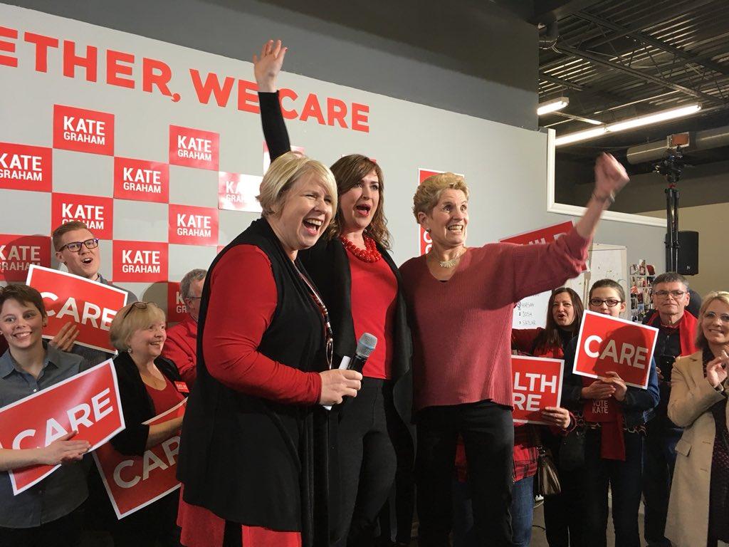 Liberal Candidate Kate Graham opens volunteer hub alongside Premier Kathleen Wynne