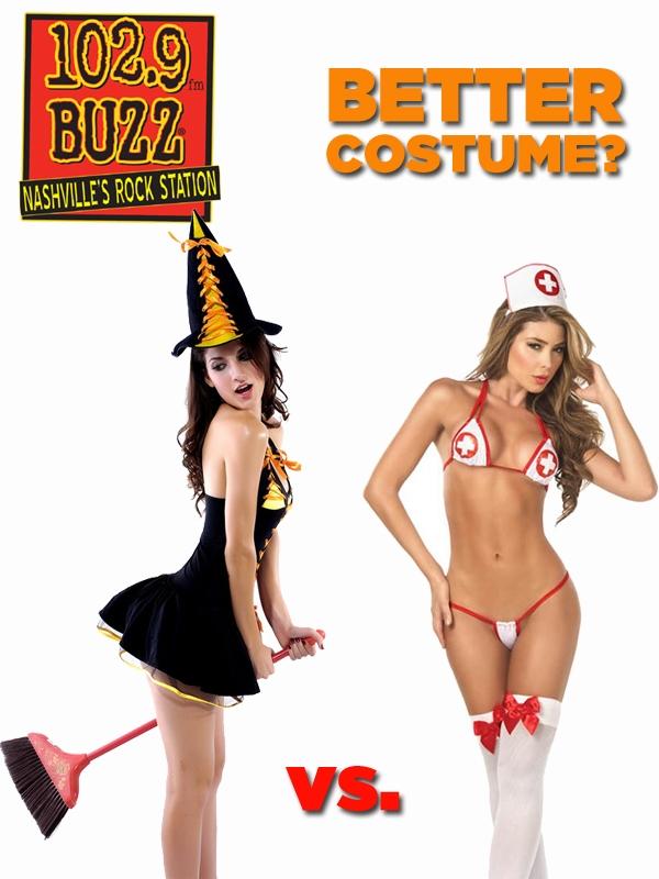 Better Costume?  Witch vs. Nurse