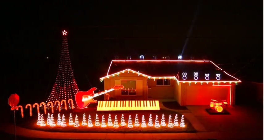 A long time ago, in a neighborhood far far away the most Epic Christmas Light Show