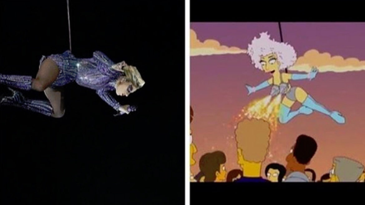 Did The Simpsons predict last night's Super Bowl Halftime Show?