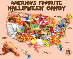 Favorite Candy by each state.