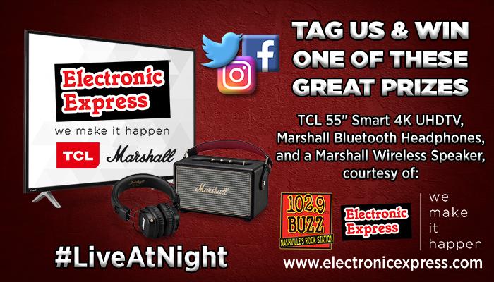 Win by using Hashtag #LiveAtNight!