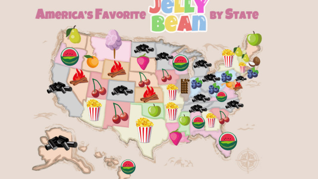 The Favorite Jelly Bean Flavors by State.