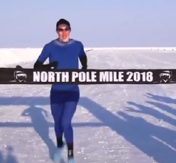 Irishman Runs 4 Minute Mile At The North Pole