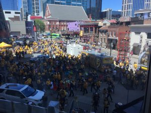 Bridgestone Arena plaza before Game 6. (Photo credit: ESPN 102.5 The Game / Ryan Porth)