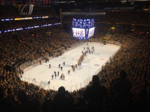 Bridgestone Arena after Game 6. (Photo credit: ESPN 102.5 The Game / Ryan Porth)