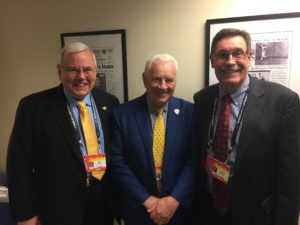 L to R: Pete Weber, Terry Crisp and Brent Peterson before Game 1. (Photo credit: ESPN 102.5 The Game / Ryan Porth)