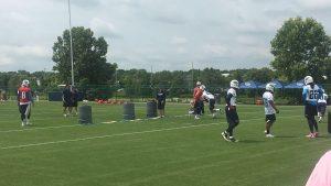 Nashville, TN - May 12, 2017 - St. Thomas Sports Park - Titans quarterbacks & running backs practice their handoffs during OTAs (Photo by Buck Reising ESPN Nashville)
