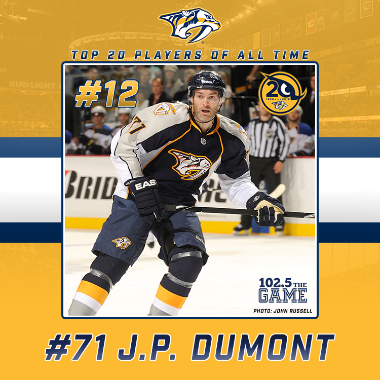 Top 20 Predators of All Time: #12 J.P. Dumont