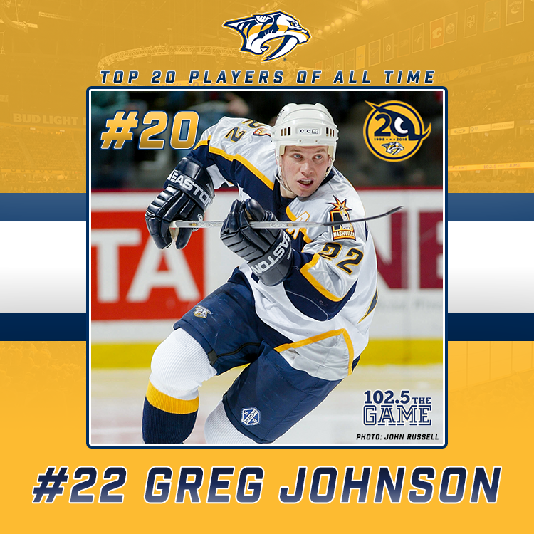 Top 20 Predators of All-Time: No. 20 Greg Johnson