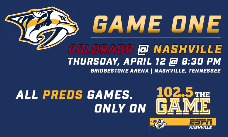 Mark your calendars! Preds/Avs first round schedule announced!