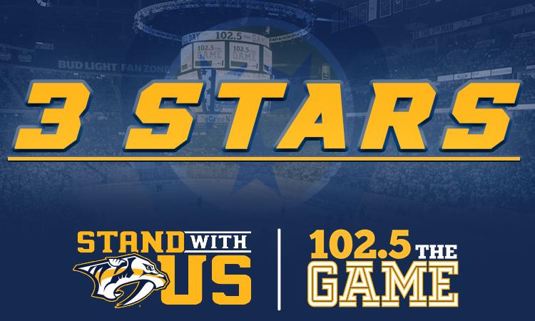 Three Stars: Game 1 vs. Winnipeg
