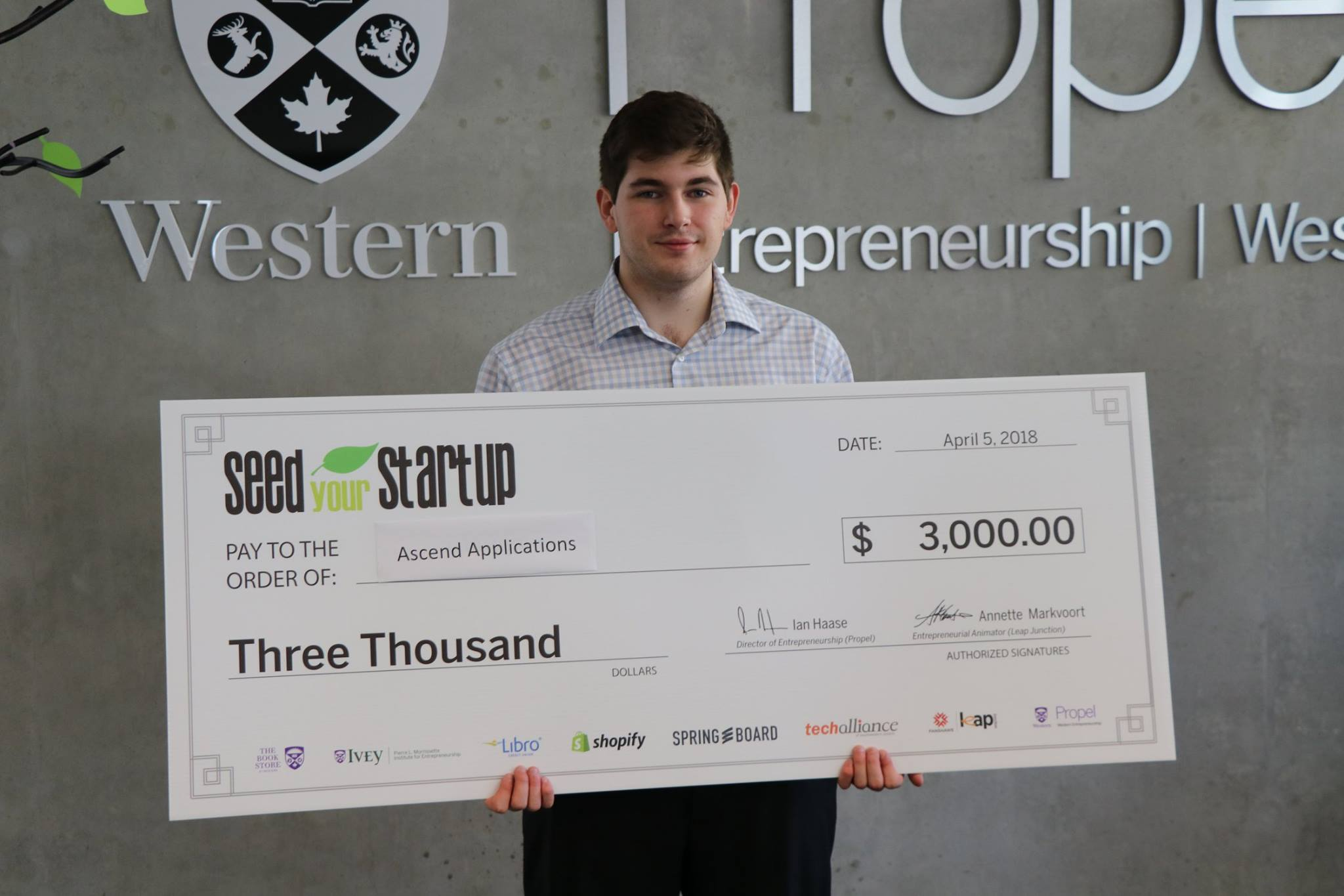 Fanshawe Programing Student Wins at Seed Your Startup Pitch Competition