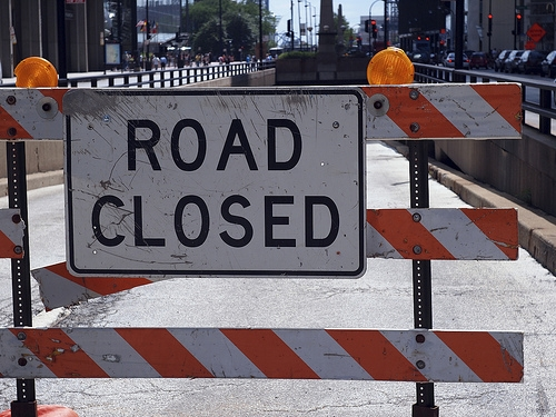 Part of E. Lake Shore Drive Closed this Morning
