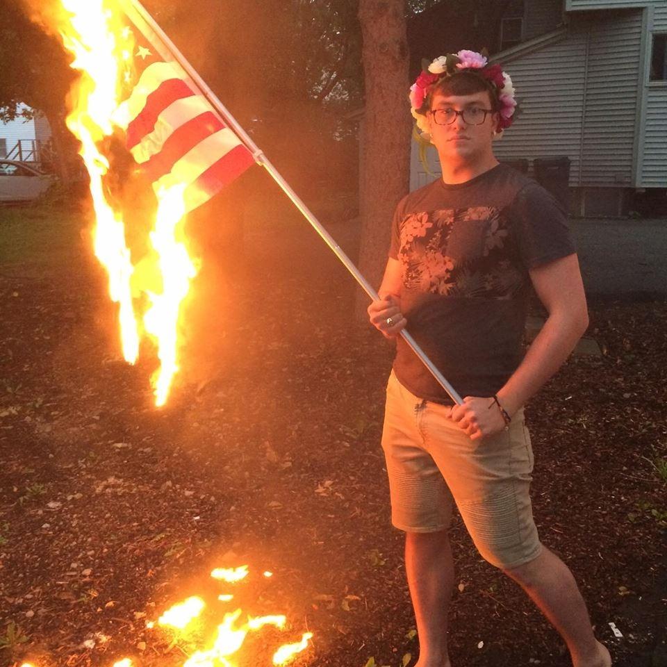 Urbana Man Arrested for Flag Desecration