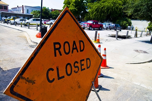 A Section of Ridge Lane Dr. is Closed Through Tomorrow