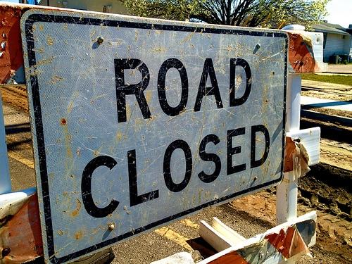Turn Lane Onto Locust St. Closed Today