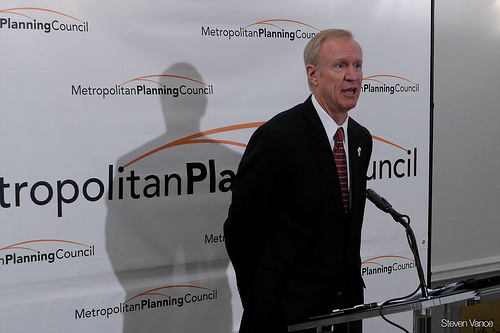 Governor Rauner Promises To Open Flooded Lake County School