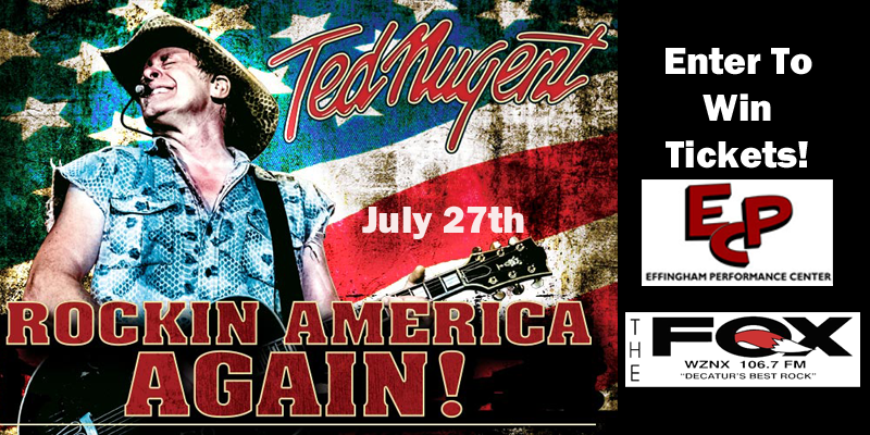 Ted Nugent Live Thursday July 27th