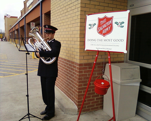 Salvation Army Kettles Lighter This Year
