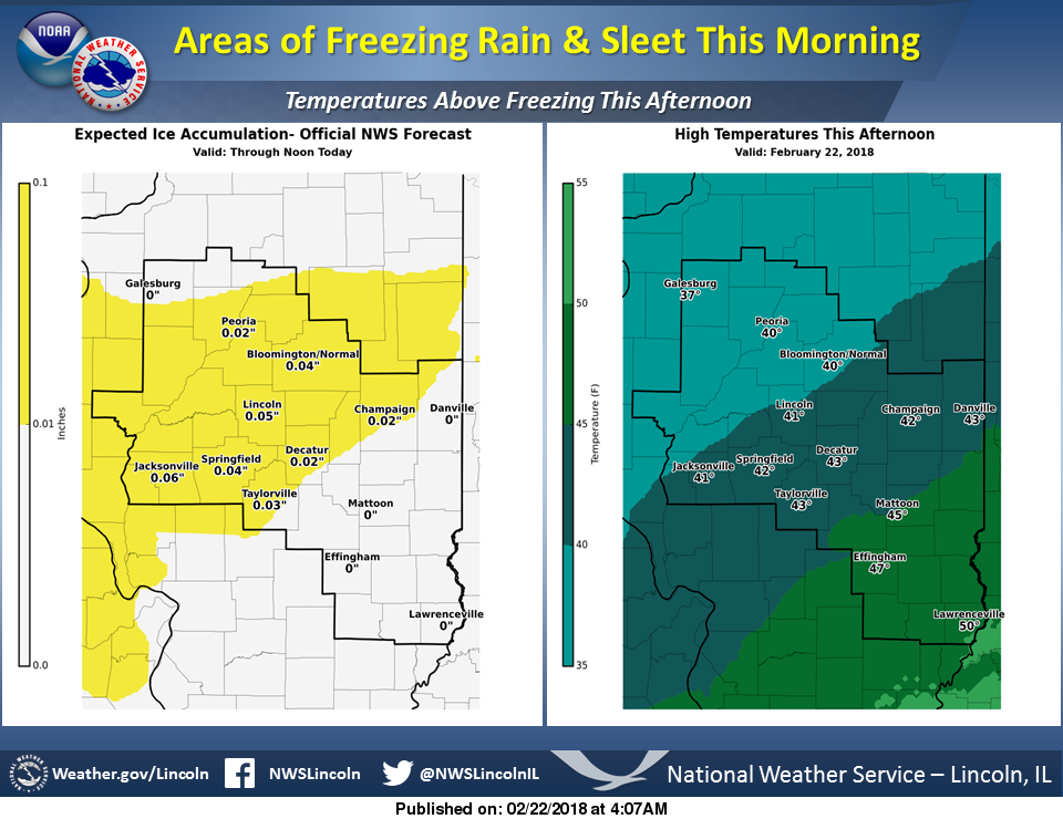 Ice, Freezing Rain In Forecast For Central Illinois