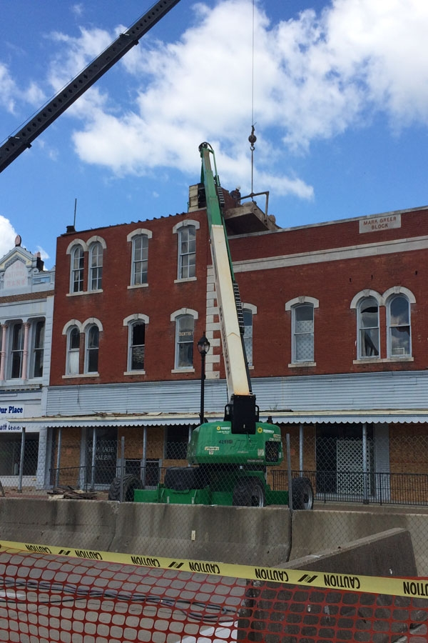 Vandalia Mayor says downtown demolition work is coming along