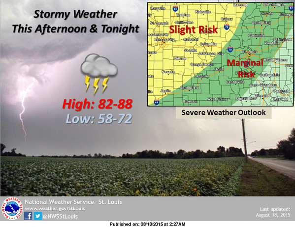 Area could see some strong to severe storms tonight