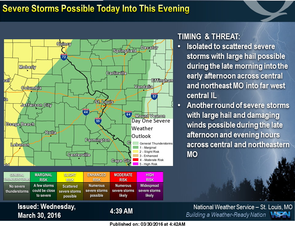Could see a couple of rounds of storms, could see severe storms