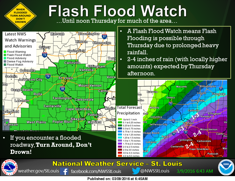 Flash Flood Watch until noon Thursday