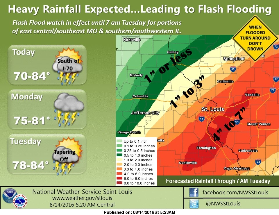 Latest Maps increase predicted rainfall for area