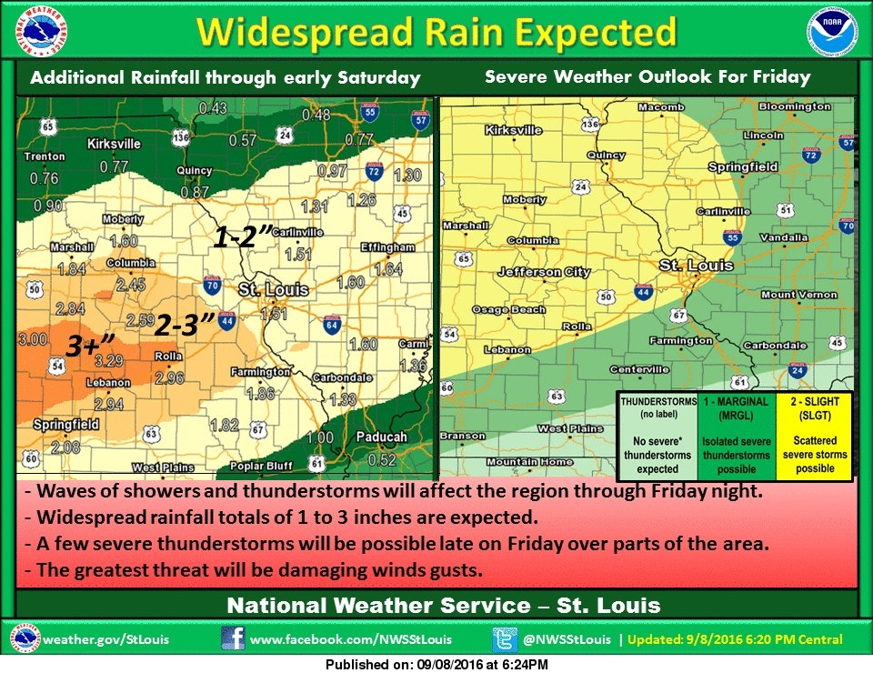 More information on Heavy Rain and Storms today and tonight
